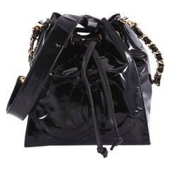 Chanel Vintage Drawstring CC Bucket Bag Patent
