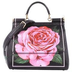 Dolce & Gabbana Miss Sicily Handbag Printed Leather Medium