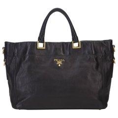 Prada Black Leather Satchel