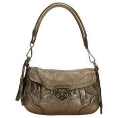 Prada Brown Leather Shoulder Bag