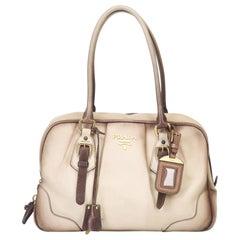 Prada Brown Leather Bauletto Shoulder Bag