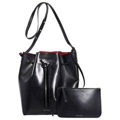 Black Mansur Gavriel Leather Bucket Bag