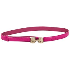 Hot Pink Versace Leather Belt