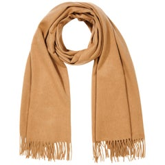 Scottish 100% Cashmere Shawl in Camel Tan