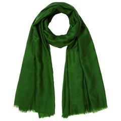 Lightweight 100% Cashmere Shawl in Green