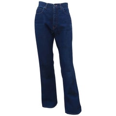 Vintage Yves Saint Laurent High Rise Blue Jeans Pants