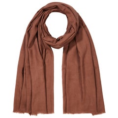 Cashmere Wool Shawl in Rose Chestnut Brown made in Kashmir India