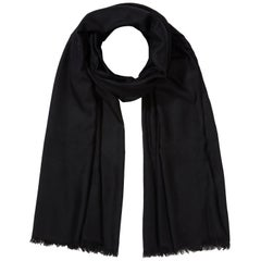 Large Handwoven 100% Cashmere Shawl in Black made in Kashmir India