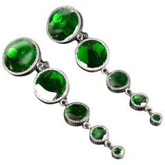 Brand New TOM FORD Green pate de verre clip-on earrings