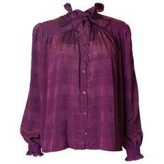 Vintage Jaeger Purple Blouse