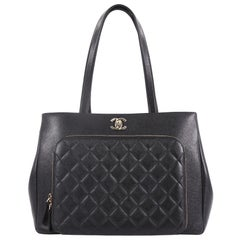 Chanel Business Affinity Tote Quilted Caviar Large