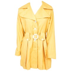 1960s Yellow Mod Trench Jacket
