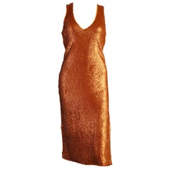 Prabal Gurung Copper Shift Sequin Dress US size 4