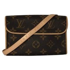 Louis Vuitton Monogram Pochette Florentine with Small Strap Belt Bag Crossbody