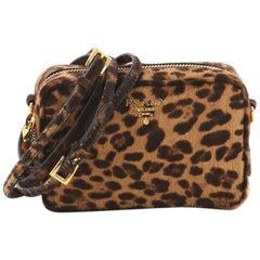 Prada Zip Crossbody Bag Cavallino Calf Hair Mini