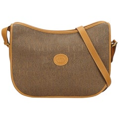Gucci Brown Leather Crossbody Bag