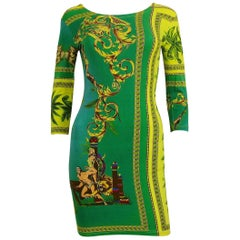 Versace Jeans Couture Vintage 1990s Tarzan Jungle Print Bodycon Dress