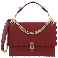 Fendi Kan I Handbag Leather Medium