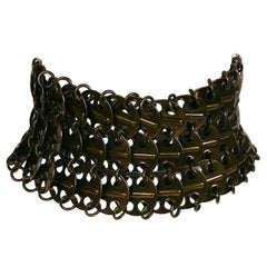 Yves Saint Laurent YSL Runway Chainmail Choker Necklace