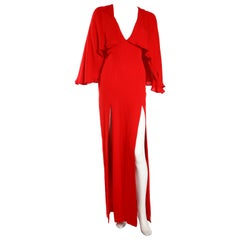 Haney Red Cape Dress