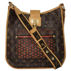Louis Vuitton Limited Edition Monogram Perforated Musette in Orange Crossbody