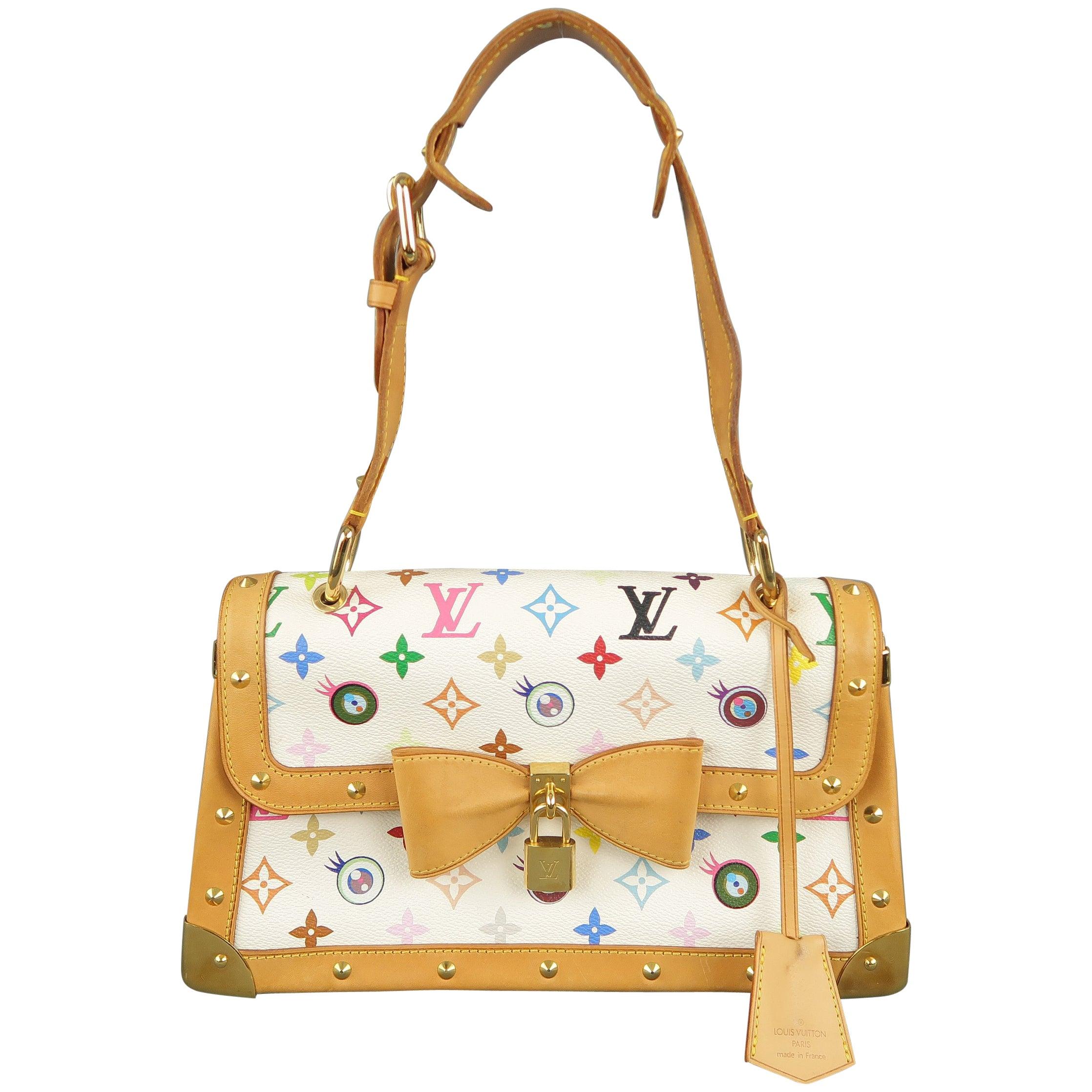 fd426c68de74 LOUIS VUITTON x Takashi Murakami White Multicolor Monogram EYE NEED YOU Bag  For Sale at 1stdibs