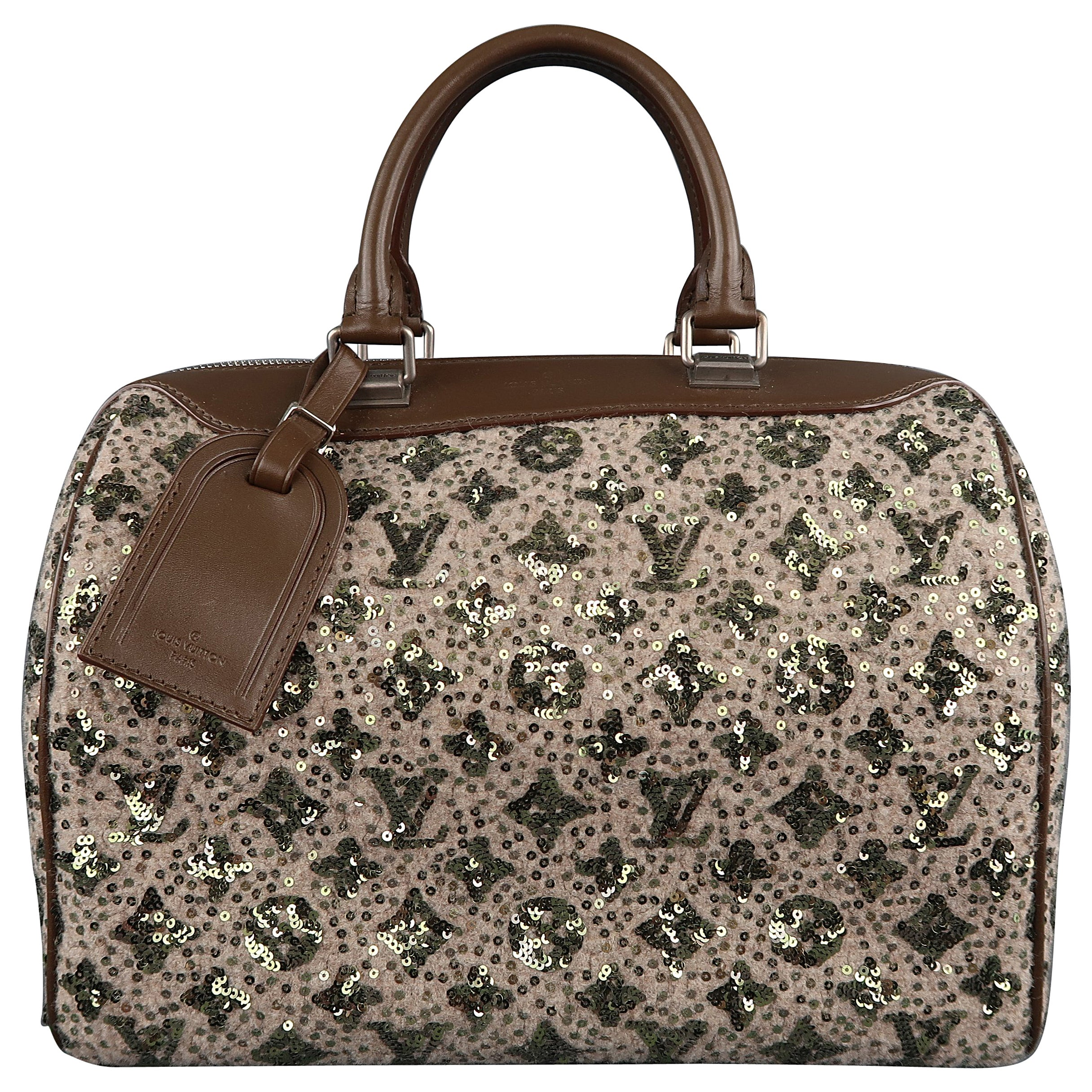 0a4091ced943 LOUIS VUITTON Sequin Monogram Sunshine Express Speedy Wooly Bag at 1stdibs