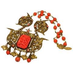 1920s Art Nouveau Necklace Signed EBE