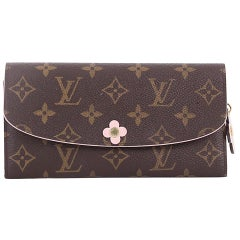 Louis Vuitton Emilie Wallet Limited Edition Bloom Flower Monogram Canvas