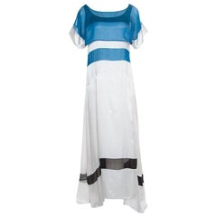 Just Cavalli Colorblock Paneled Satin Maxi Dress M