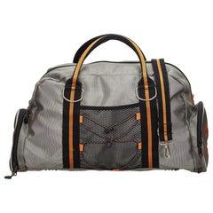 Versace Gray Versace Sport Boston Bag