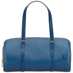 Louis Vuitton Blue Epi Soufflot