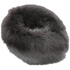 1990s Alberta Ferretti Black Fur Neck Warmer Scarf