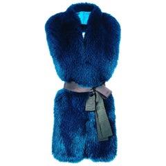 Verheyen London Legacy Stole in Jade Fox Fur & Silk Lining - Gift
