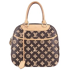 Louis Vuitton Deauville Cube Bag Limited Edition Monogram Canvas Tuffetage