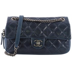 Chanel Duo Color Flap Bag Quilted Aged Calfskin Medium