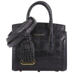 Alexander McQueen Heroine Tote Crocodile Embossed Leather Mini