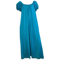 Kenzo Cotton Maxi Dress with Pockets Size 8. Made in France.