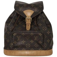 Louis Vuitton Monogram Montsouris MM Backpack Shoulder Handbag