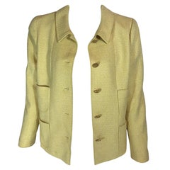 Chanel Tweed Button Up Jacket