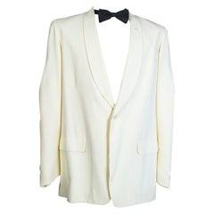 Men's City of Paris Ivory Shawl Collar Dinner Jacket, 1949