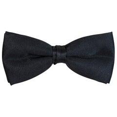 Men's Black Silk Pre-Tied Bow Tie, 1990s