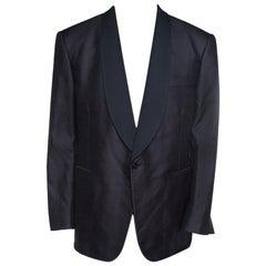 Ralph Lauren Black Silk Jacquard Shawl Lapel Anthony Tuxedo 4XL