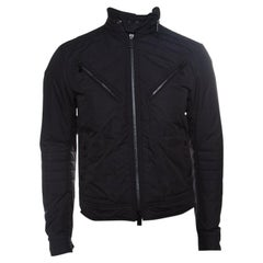 Ralph Lauren Black Zip Front Hooded Jacket S