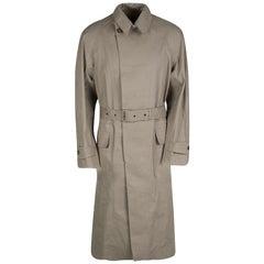 Ralph Lauren Brown Cotton Belted Trench Coat M