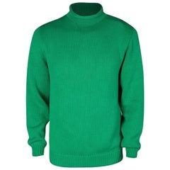 Ralph Lauren Green Cotton Chunky Knit Sweater L