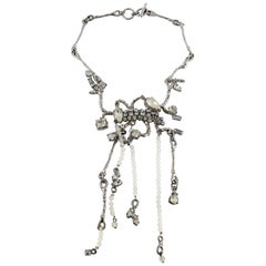 Christian Lacroix Vintage Jewelled Branches Design Necklace