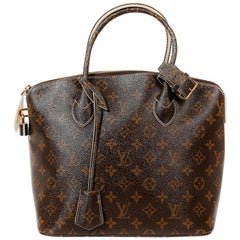 LOUIS VUITTON 'Lockit' Bag in Brown Varnished Monogram Canvas