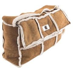 2000s Chanel Mademoiselle Camel Shearling Bag