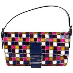 FENDI By Karl Lagerfeld Baguette Bag in Multicolored Crystals